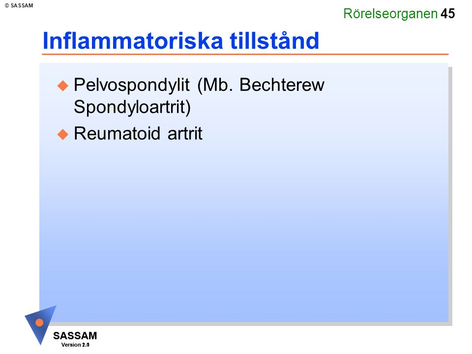 Inflammatoriska tillstånd