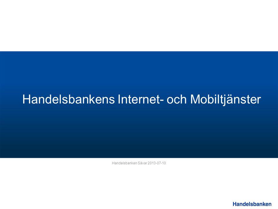 Handelsbankens Internet- och Mobiltjänster