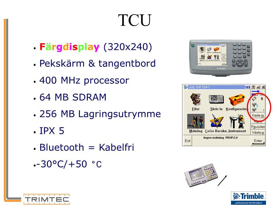 TCU Färgdisplay (320x240) Pekskärm & tangentbord 400 MHz processor