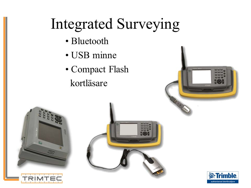 Integrated Surveying Bluetooth USB minne Compact Flash kortläsare