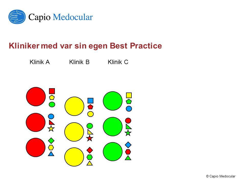 Kliniker med var sin egen Best Practice