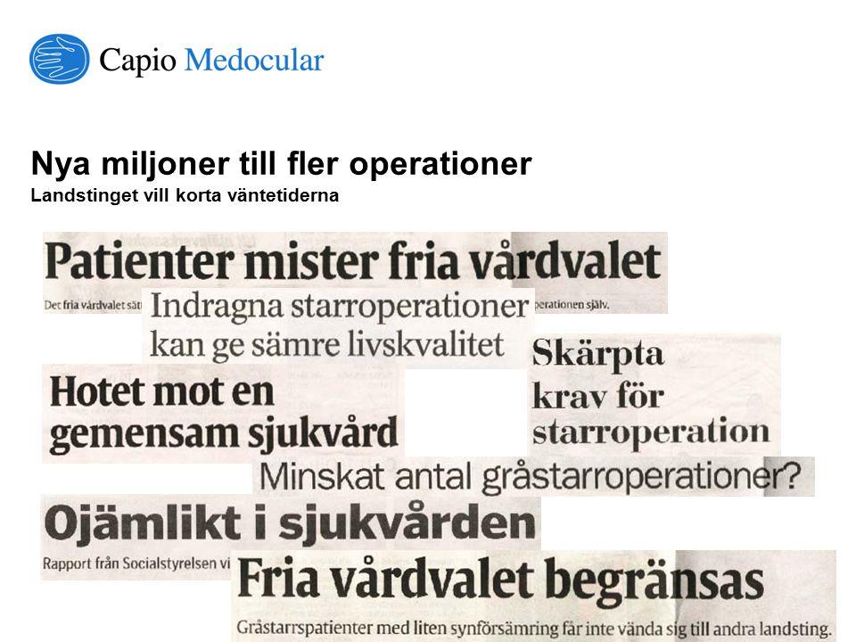 Nya miljoner till fler operationer Landstinget vill korta väntetiderna