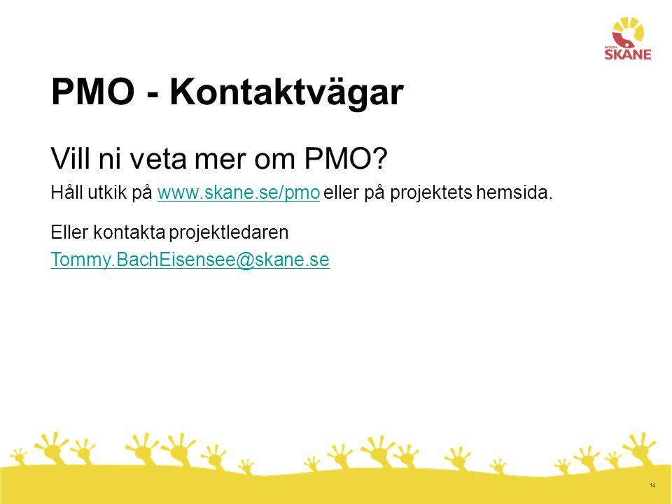 PMO - Kontaktvägar Vill ni veta mer om PMO