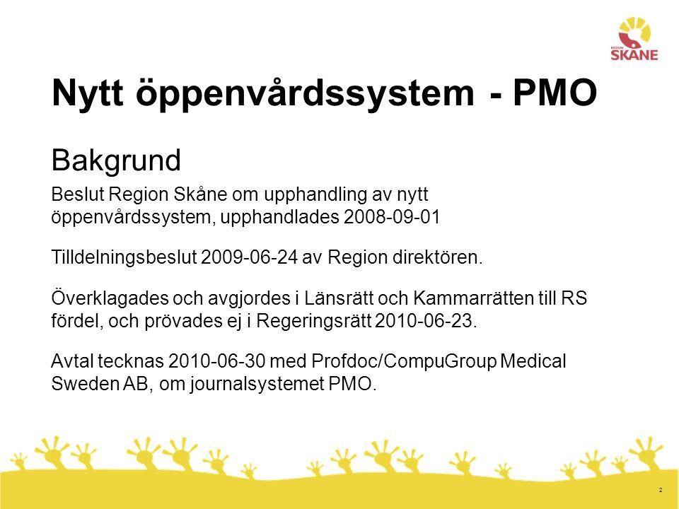 Nytt öppenvårdssystem - PMO