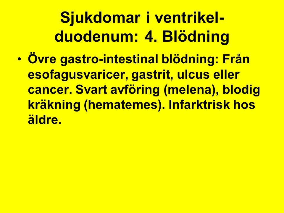 Sjukdomar i ventrikel-duodenum: 4. Blödning