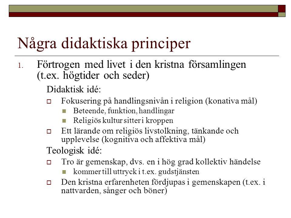 Några didaktiska principer