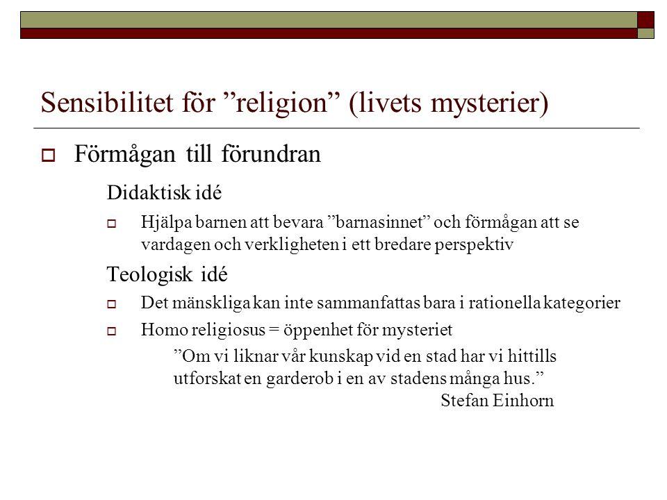 Sensibilitet för religion (livets mysterier)