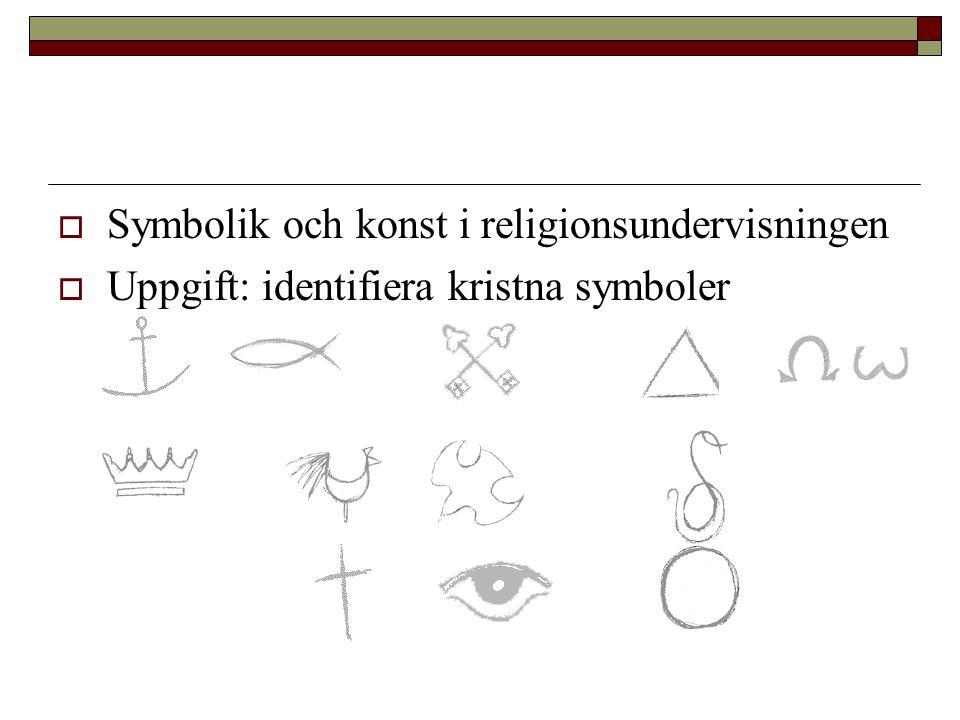 Symbolik och konst i religionsundervisningen