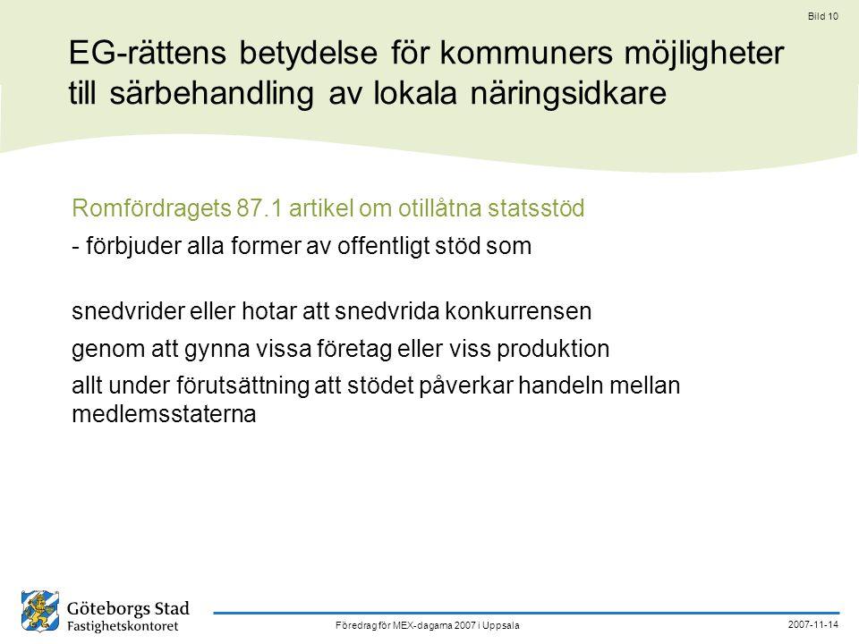EG-rättens betydelse för kommuners möjligheter till särbehandling av lokala näringsidkare