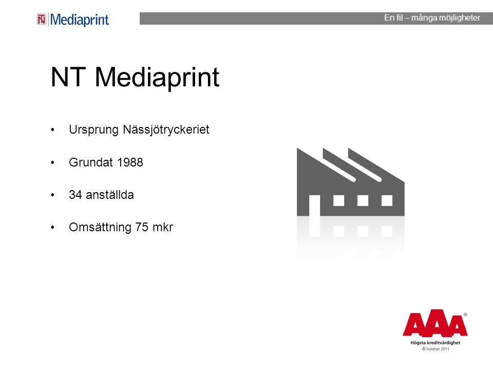 NT Mediaprint Ursprung Nässjötryckeriet Grundat 1988 34 anställda