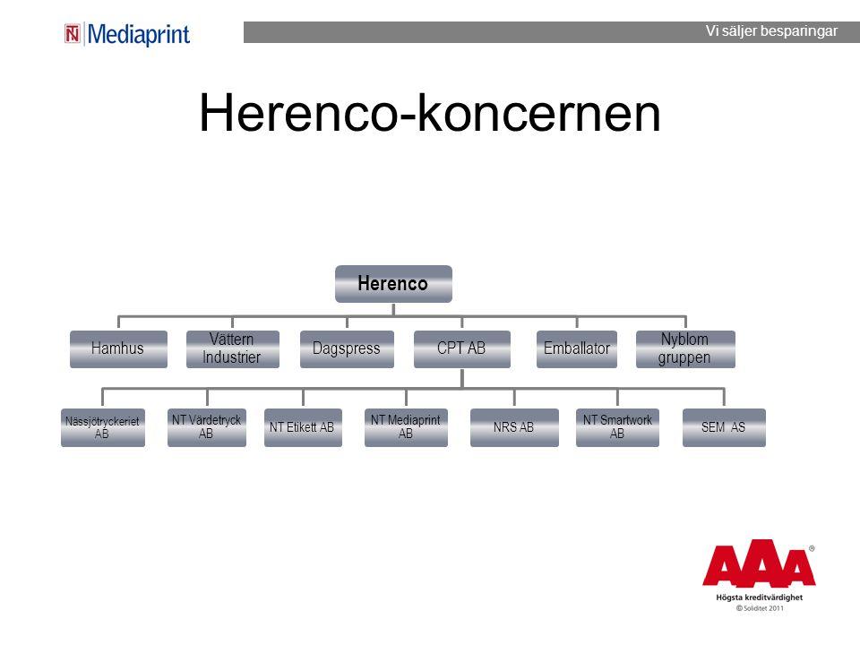 Herenco-koncernen Herenco Hamhus Vättern Industrier Dagspress CPT AB