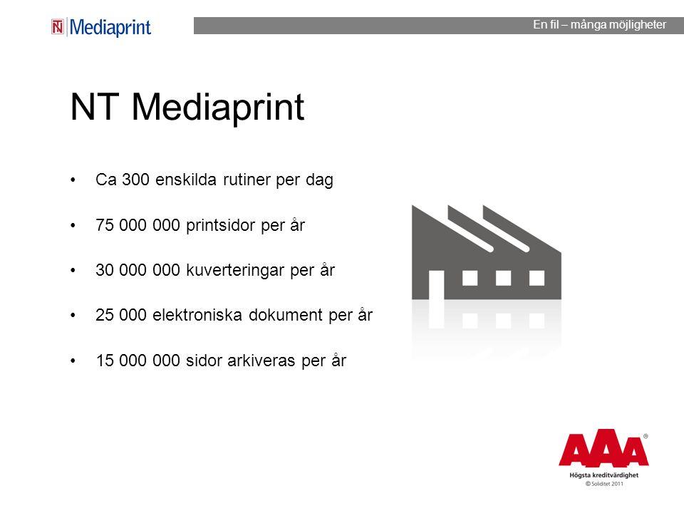 NT Mediaprint Ca 300 enskilda rutiner per dag