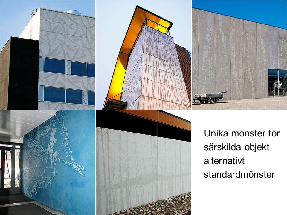 Unika mönster för särskilda objekt alternativt standardmönster