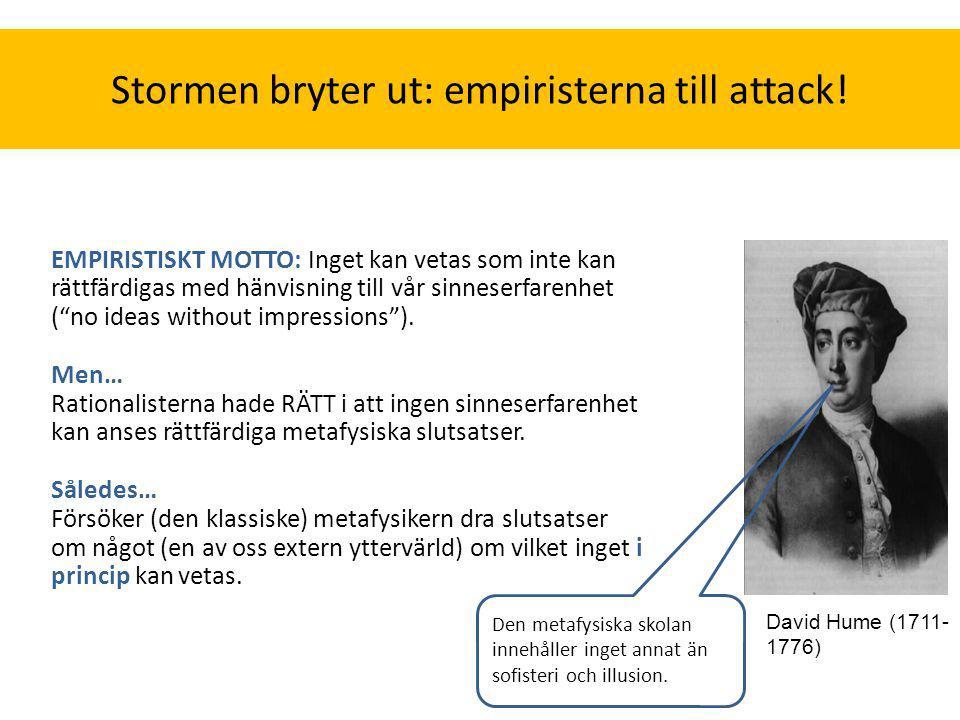 Stormen bryter ut: empiristerna till attack!