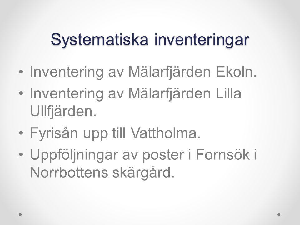 Systematiska inventeringar