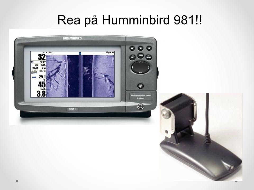 Rea på Humminbird 981!!
