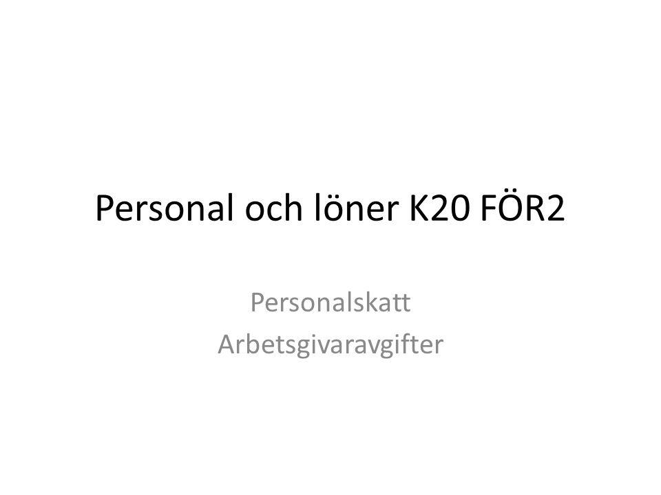 Personal och löner K20 FÖR2