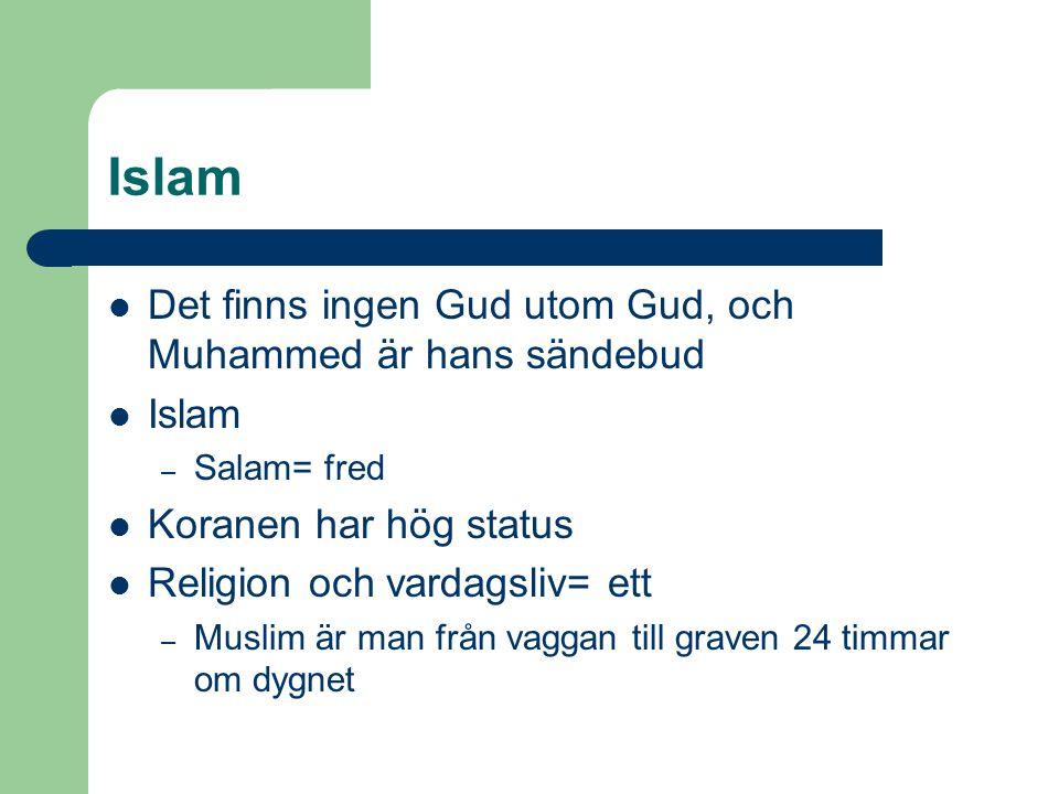 Islam Det finns ingen Gud utom Gud, och Muhammed är hans sändebud