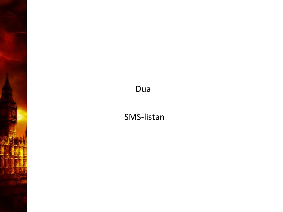 3. Delandet av månen Dua SMS-listan