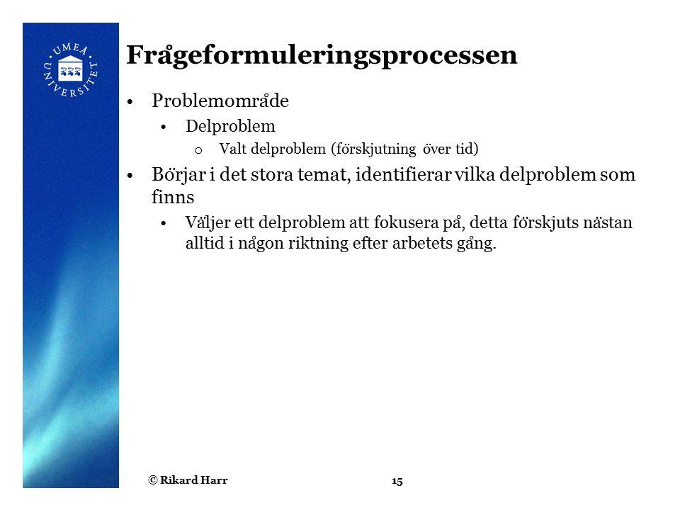 Frågeformuleringsprocessen