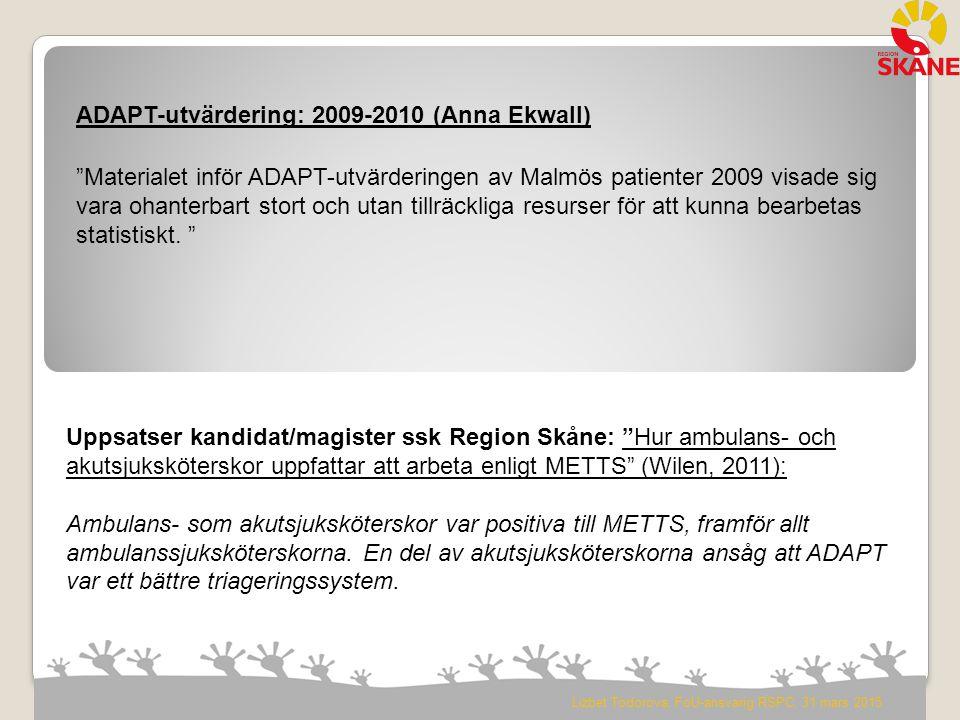 ADAPT-utvärdering: 2009-2010 (Anna Ekwall)
