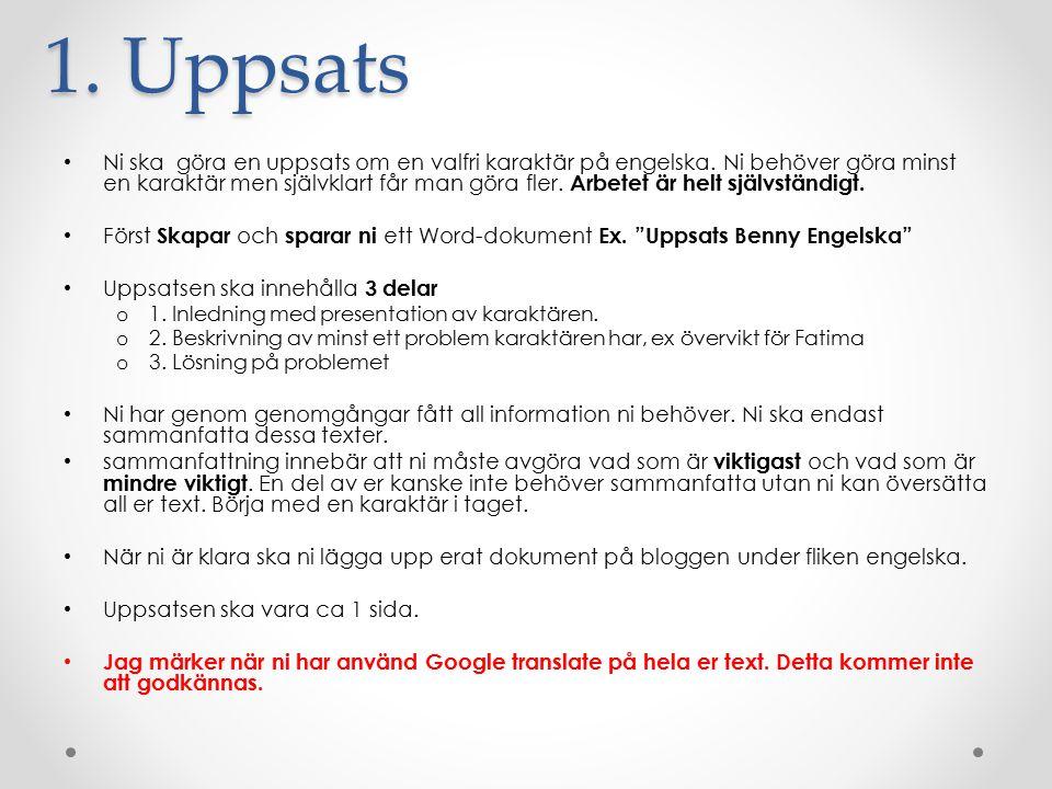 1. Uppsats