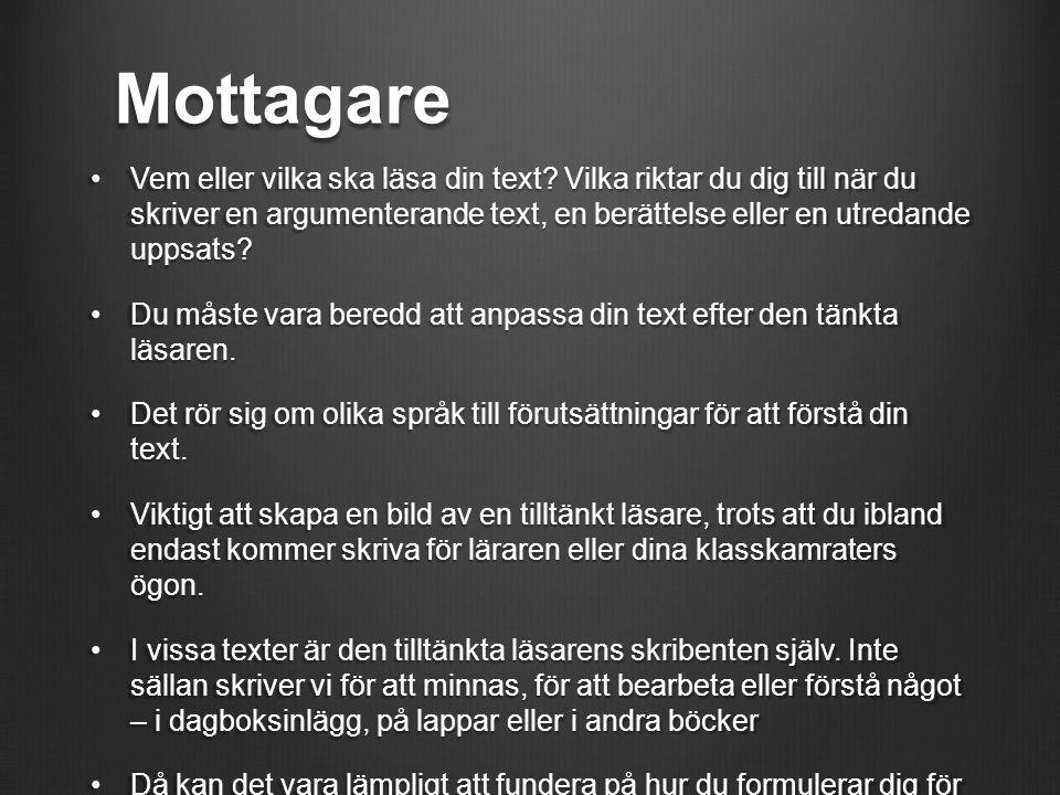 Mottagare
