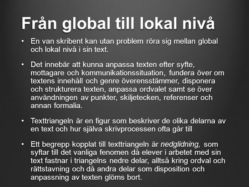 Från global till lokal nivå
