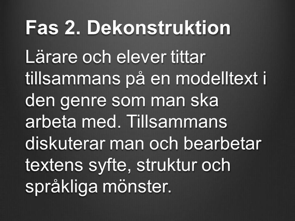 Fas 2. Dekonstruktion