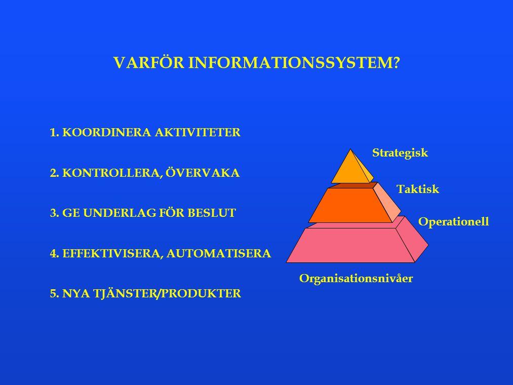 VARFÖR INFORMATIONSSYSTEM