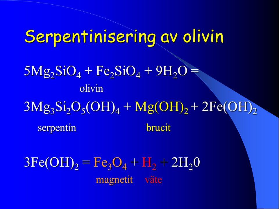 Serpentinisering av olivin