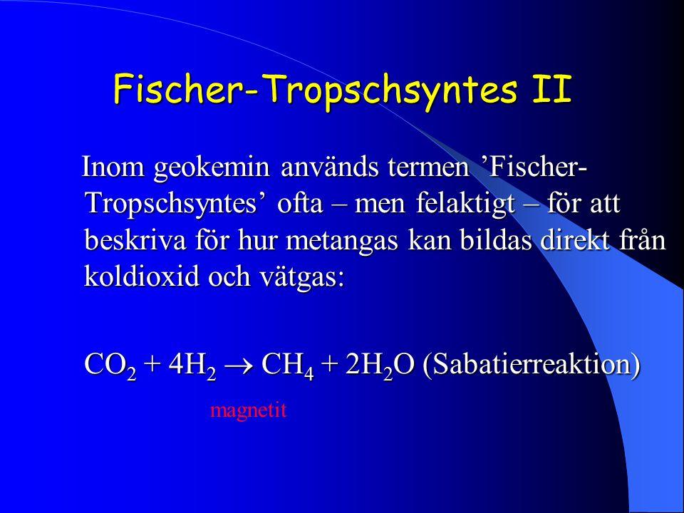 Fischer-Tropschsyntes II