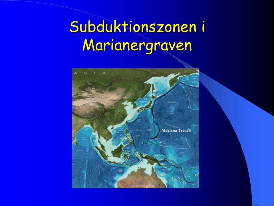 Subduktionszonen i Marianergraven