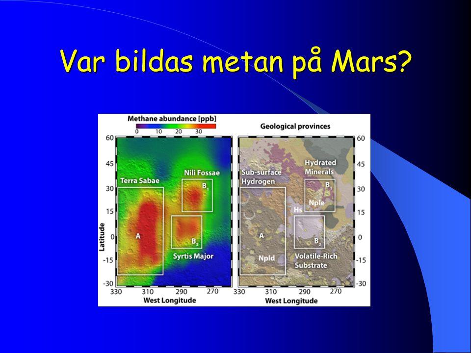 Var bildas metan på Mars