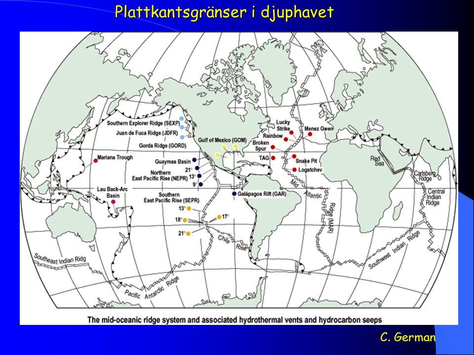 Plattkantsgränser i djuphavet
