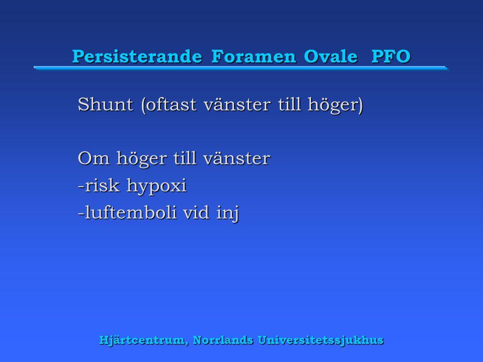 Persisterande Foramen Ovale PFO