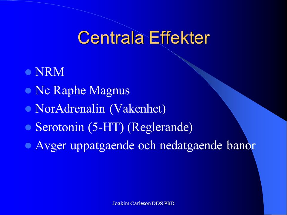 Joakim Carleson DDS PhD