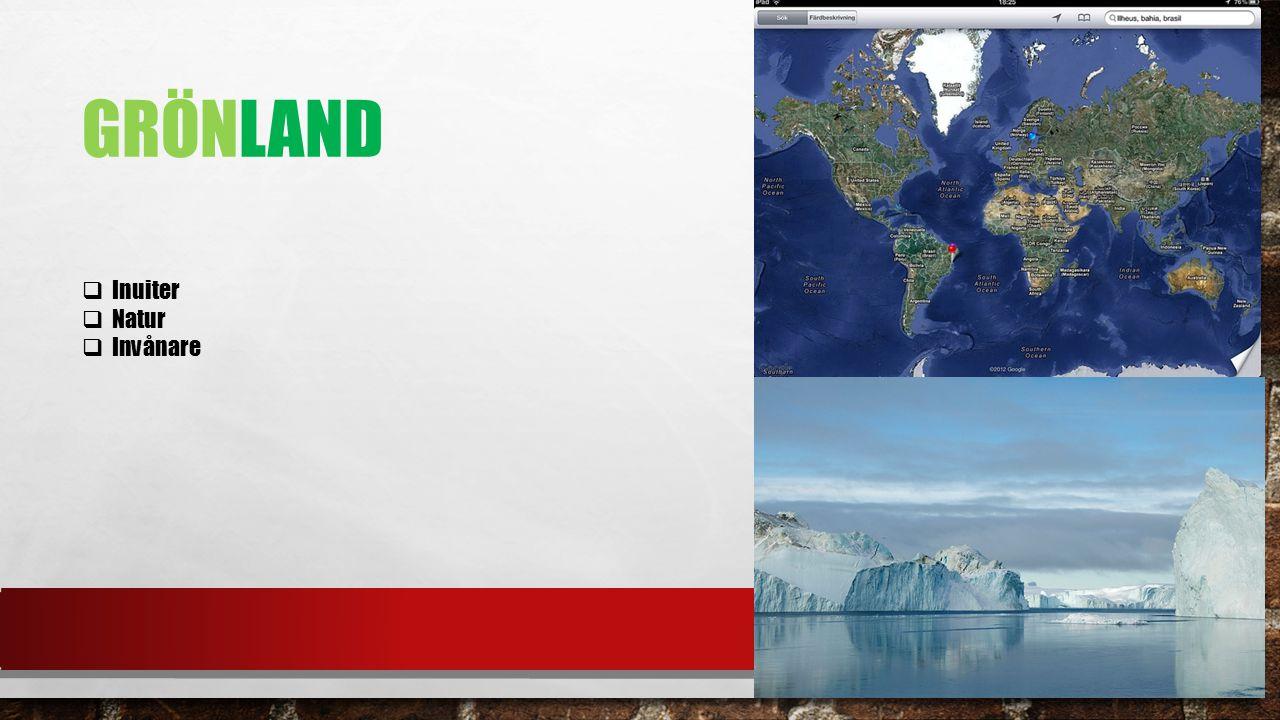 Grönland Inuiter Natur Invånare