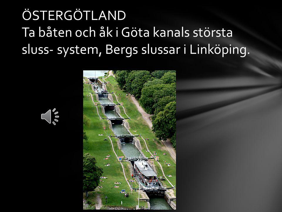 ÖSTERGÖTLAND Ta båten och åk i Göta kanals största sluss- system, Bergs slussar i Linköping.