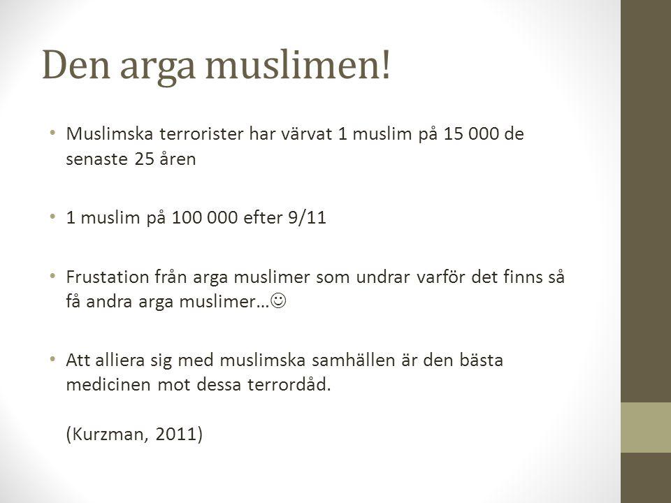 Den arga muslimen! Muslimska terrorister har värvat 1 muslim på 15 000 de senaste 25 åren. 1 muslim på 100 000 efter 9/11.