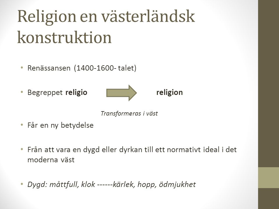 Religion en västerländsk konstruktion