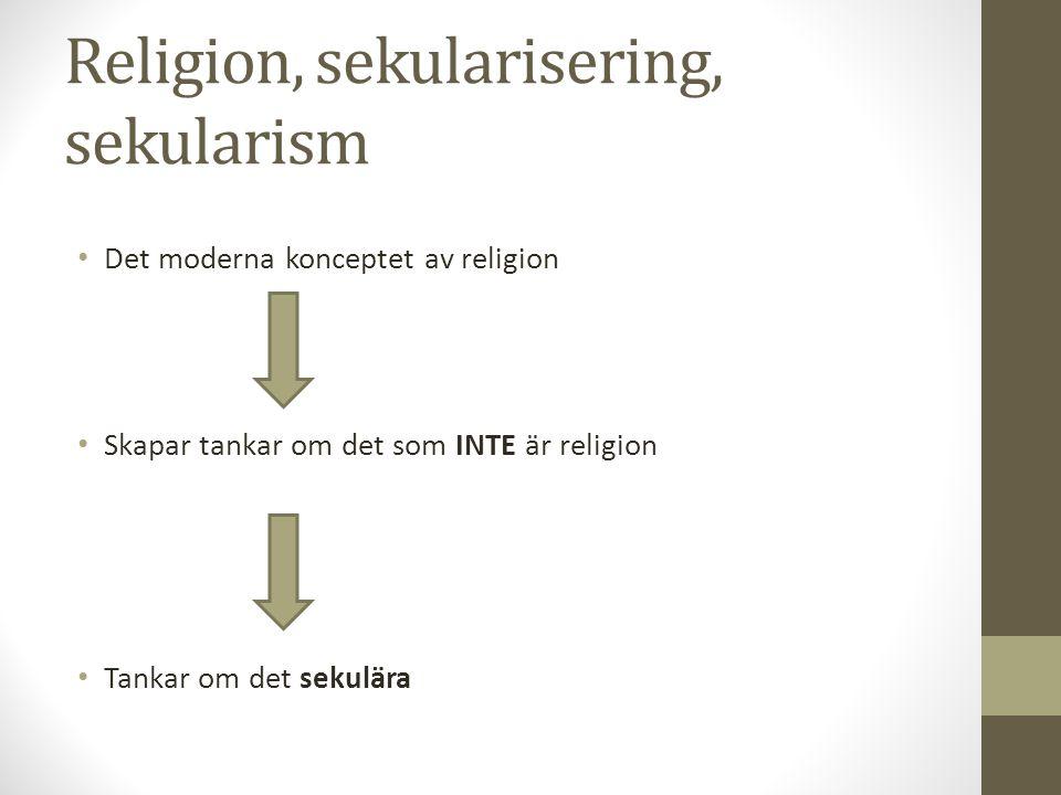 Religion, sekularisering, sekularism