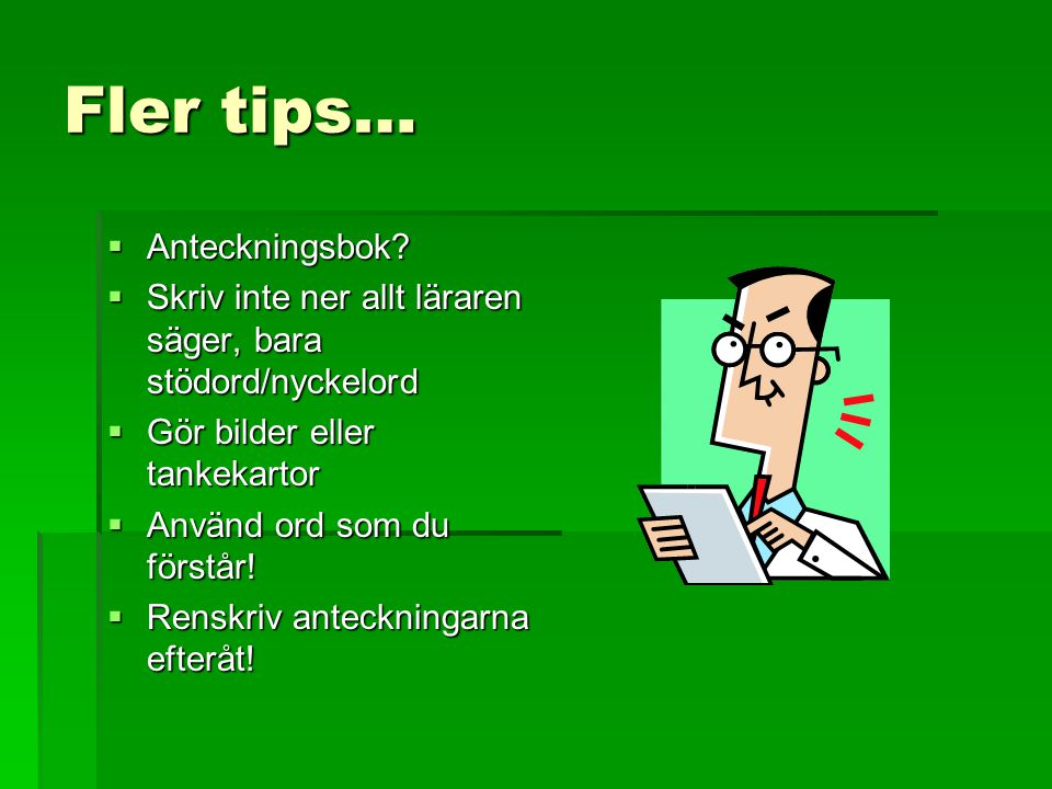 Fler tips… Anteckningsbok