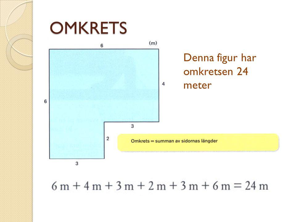 OMKRETS Denna figur har omkretsen 24 meter