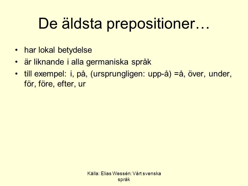 De äldsta prepositioner…
