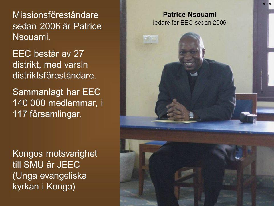 Patrice Nsouami ledare för EEC sedan 2006