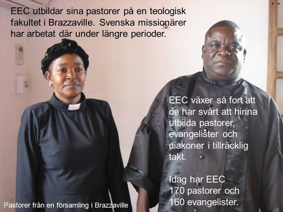 Idag har EEC 170 pastorer och 160 evangelister.