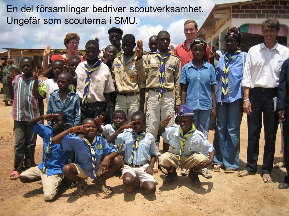 En del församlingar bedriver scoutverksamhet