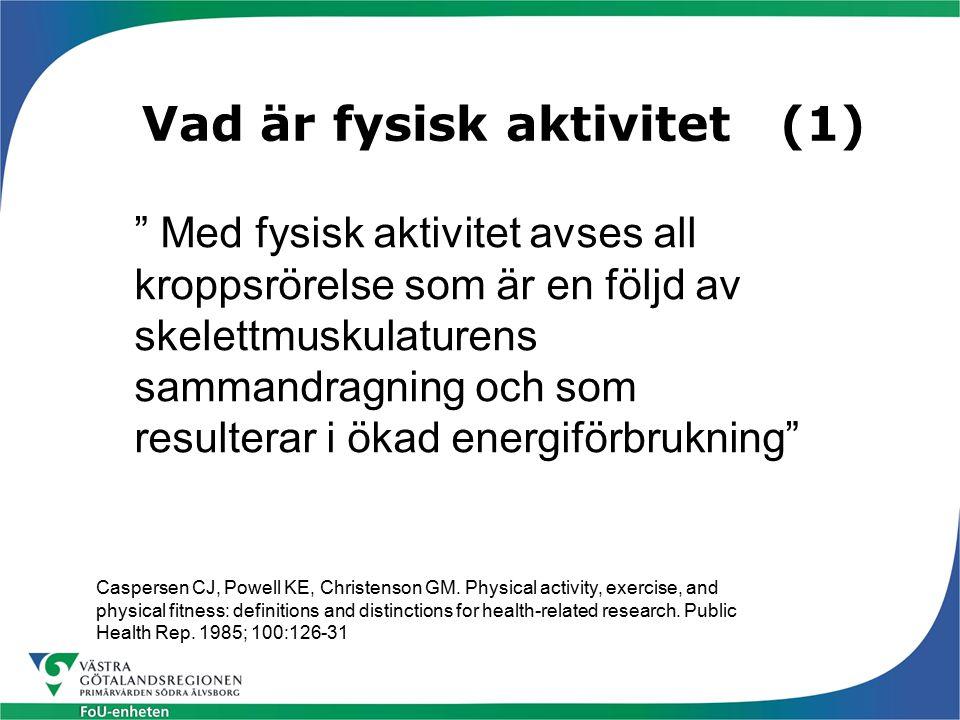 Vad är fysisk aktivitet (1)
