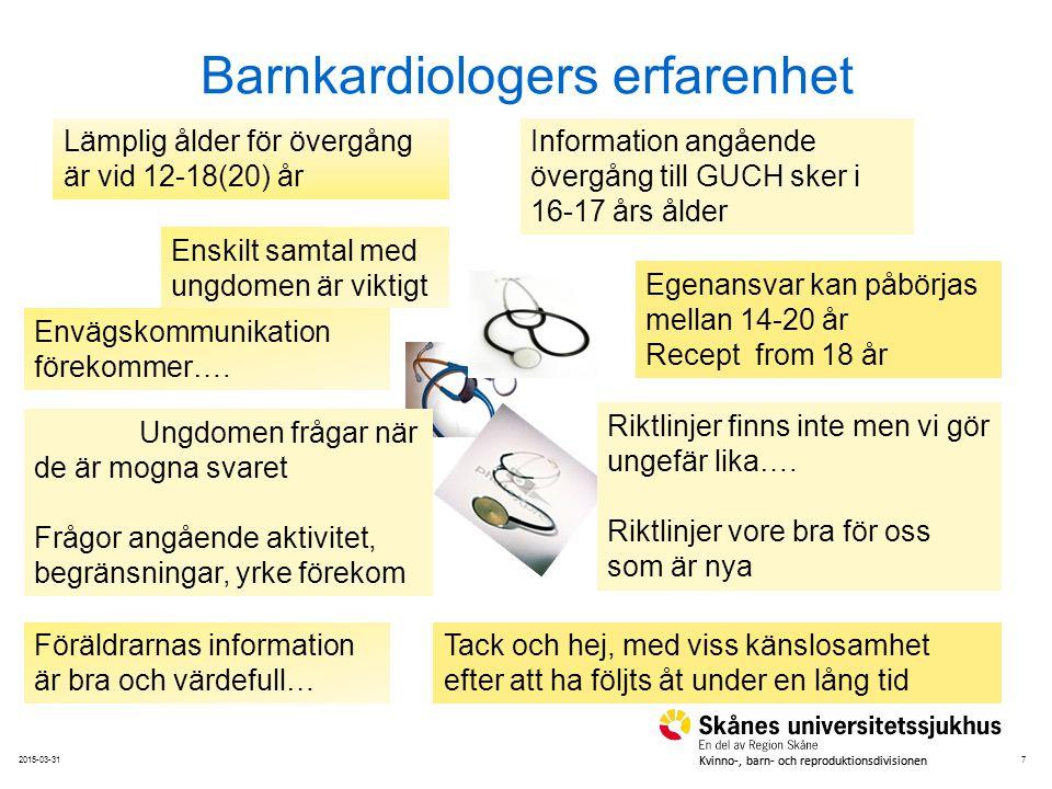 Barnkardiologers erfarenhet